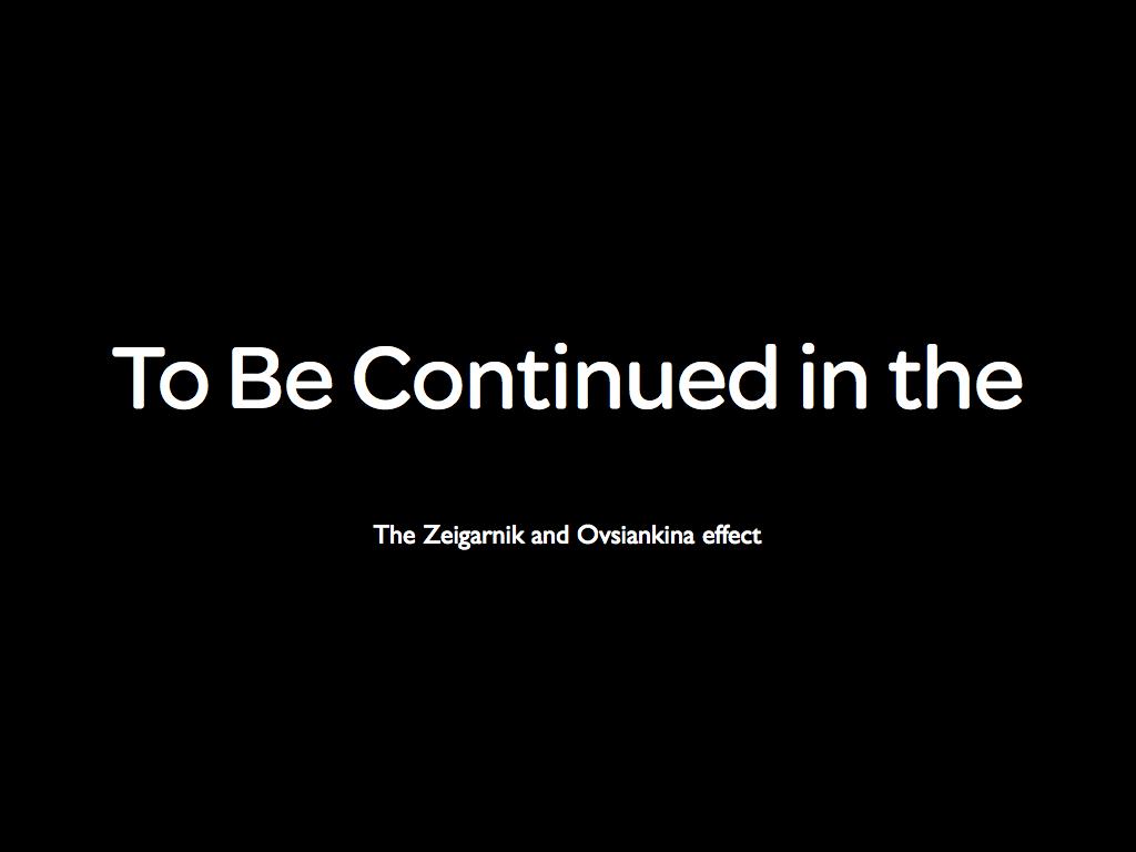 zeigarnik effect essay